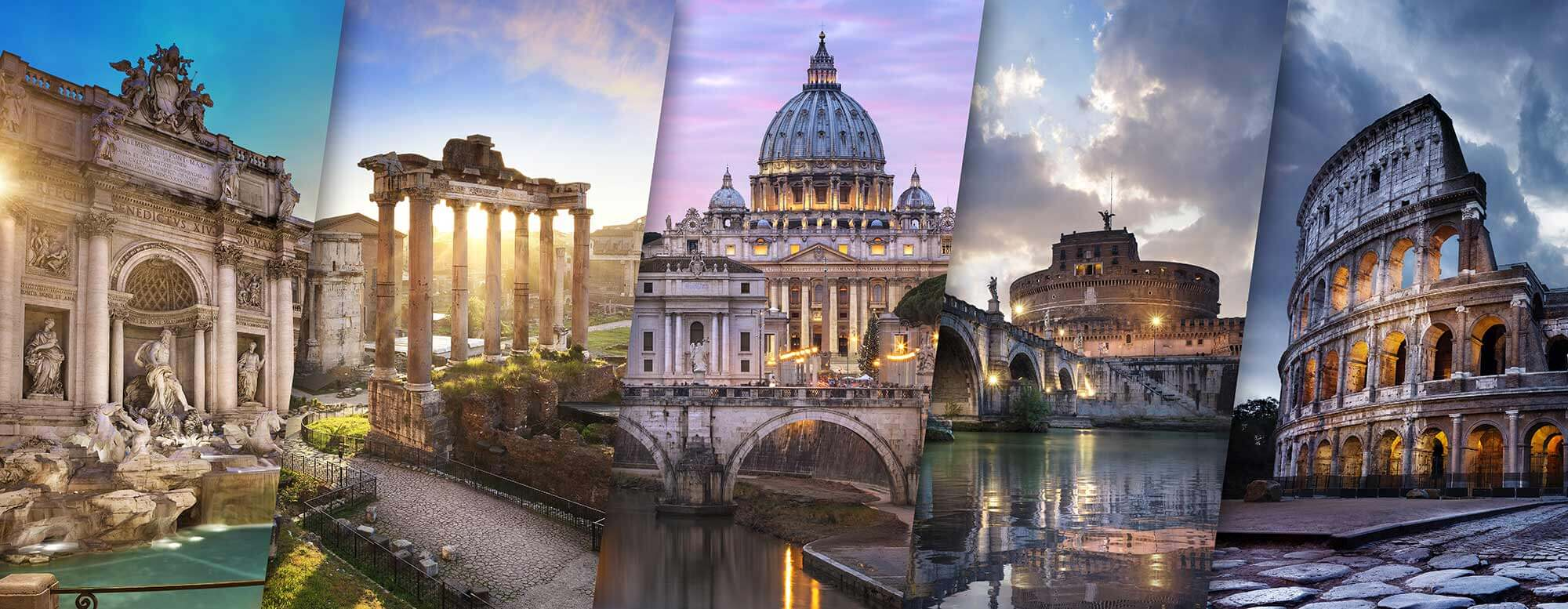 Kända landmärken i Rom